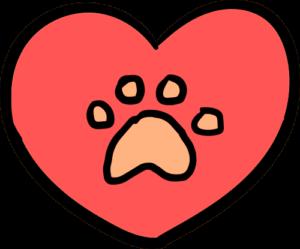Paw Heart Icon